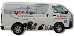 VenturePet pet transport Wellington dog travel - pet transportation van - Dog Travel